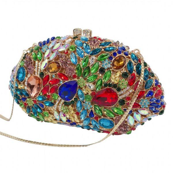 xiyuan women green crystal prom clutch purse colorful diamond evening bag clutches evening purses shoulder bag handbag (545581663) photo