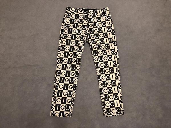 2019 new fashion Men Dress Pant Counter Business Casual Slim Fit Suit pants Lattice letter pattern Check Suit Trousers Wedding Pants