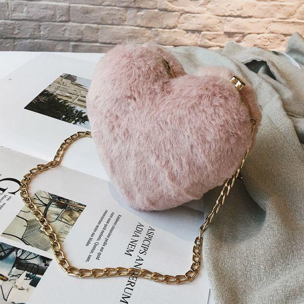 2020 luxe de femme sac femmes sac qualité en peluche party coeur dîner purse sweet girl épaule messenger bag # 45 (549852338) photo