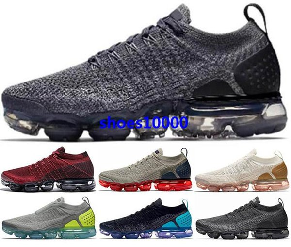 air vm Running vapors shoes Trainers Sneakers 2019 Men Women size us 5 12 46 Zapatos mens fly knit max New arrival 2019 chaussures Black