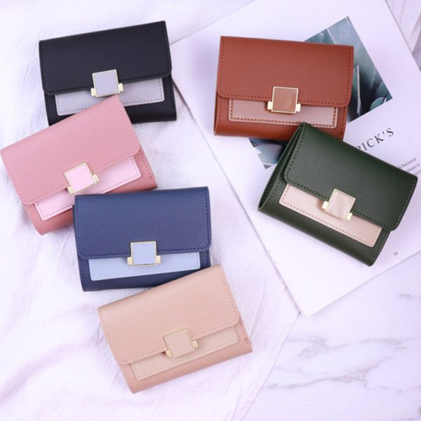 women lady clutch leather mini wallet elegant card holder phone money bag purse ladies fashion girl handbags purse carteira (483552969) photo