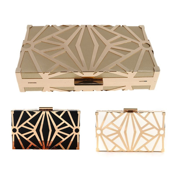 geometric geometric women clutch bag box evening party bags chain shoulder purse evening bag for new year christmas gift purses (525699152) photo