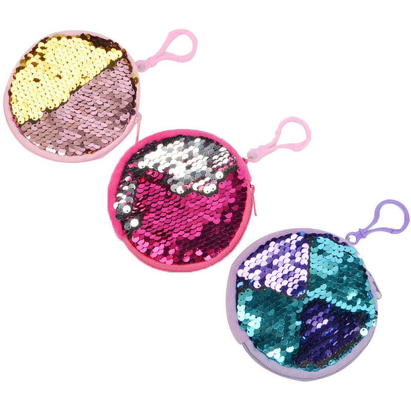 girl boy kid hangable sequin mini sparkle bag little sequin purse coin purses wallets (543611968) photo