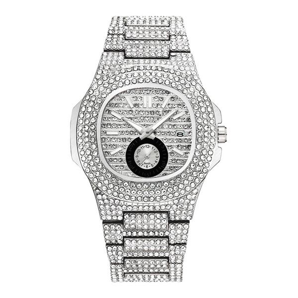 Красивые роскошные новые модные роскошные женские часы с бриллиантами специальн