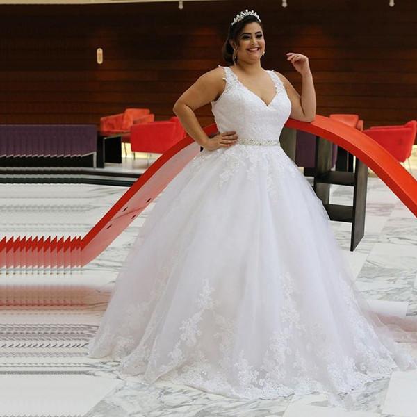 Sleeveless V-Neck Empire Floor-Length Summer Wedding Dresses