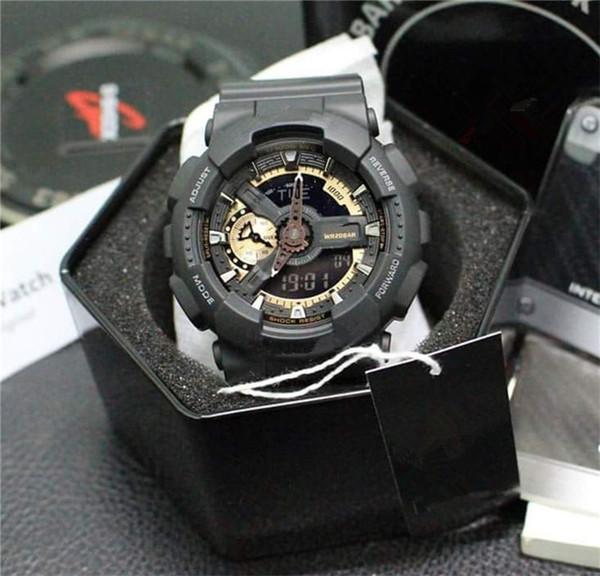 GA110 G Стиль Ударные Часы Все Функции Работы Водонепроницаемые Спортивные Wirst Часы LED Цифровые Военные Часы Черное Золото Авто Свет мужские Часы