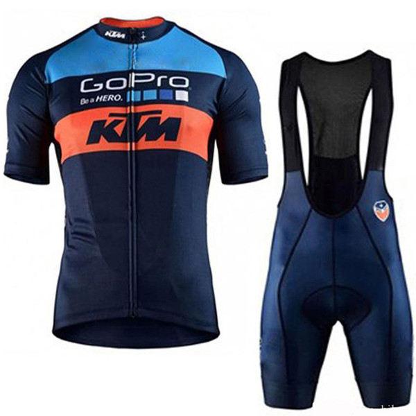 Tour de France KTM 2019 Pro Cycling Jersey set Short Sleeve MTB Racing Bike Clothes Summer Mountain Bicycle Clothing Cycling Set Sport Wear