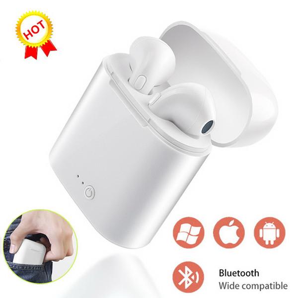 1 ШТ. I7S TWS i7s Bluetooth Наушники с Коробкой Зарядного Устройства Близнецы Беспроводные