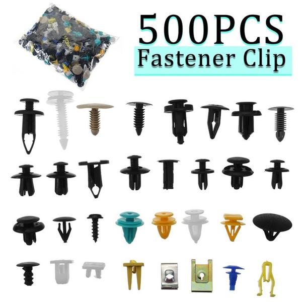 500pcs / комплект для автомобилей Пластиковые заклепки автомобилей Fender бампер отдел фото