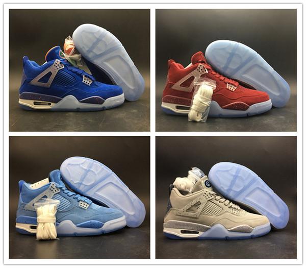 Высокое качество 4 UNC Флорида Gators PE темно-синие мужские баскетбольные кроссовки 4s Оклахома Sooners PE Red Grey Мужские спортивные кроссовки