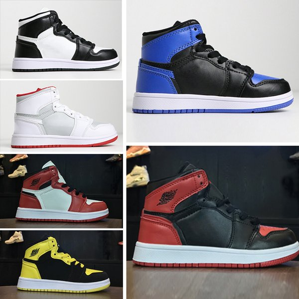 Nike air jordan 1 retro Совместно подписали высокая OG 1s дети баскетбол обувь Чикаго 1 младен фото