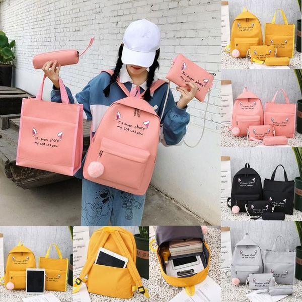 4pcs woman bag set fashion female purse and handbag four-piece shoulder bag tote messenger purse drop shipping#g30 (515300604) photo