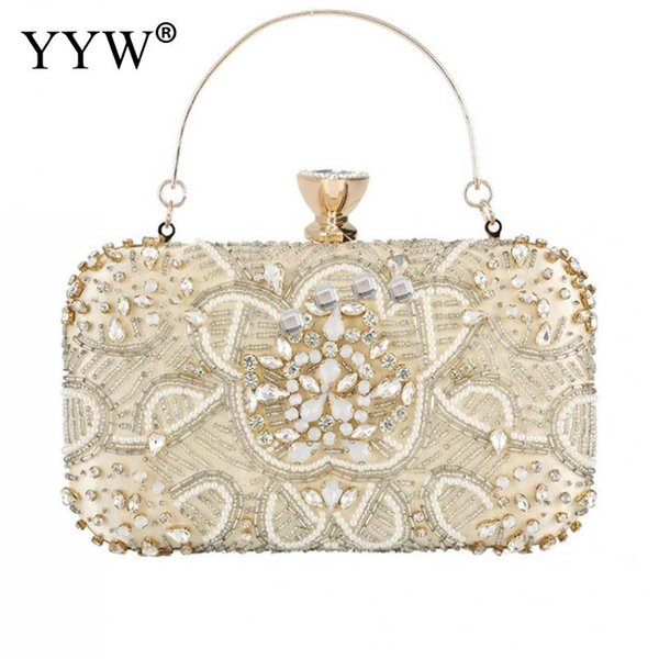 diamond clutches pearls beaded day clutch purses and handbags rhinestone evening bags wallet evening wedding bag sac a dos (476722087) photo