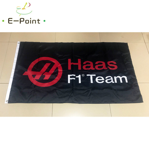 Haas F1 Team флаг 3 * 5ft (90 см*150 см) полиэстер флаг баннер украшения летающий дом сад флаг фото