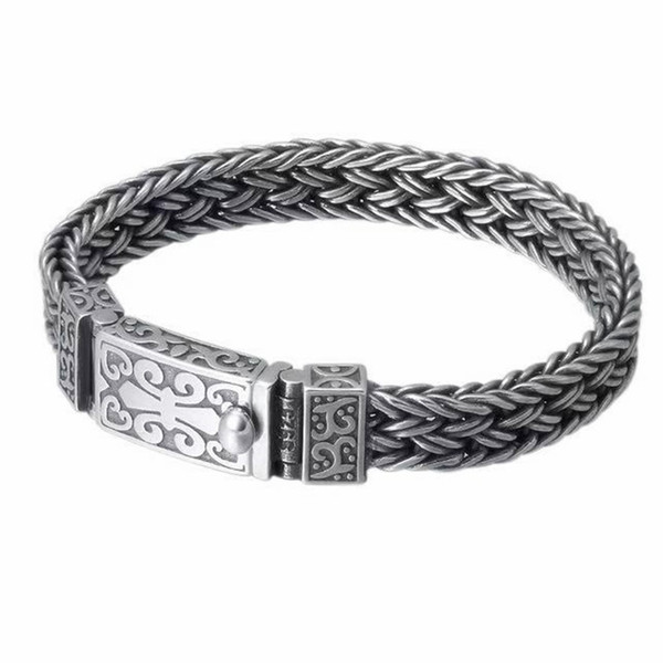 73g_925_sterling_silver_jewelry_bracelets_pour_hommes_vintage_s925_largeur_11mm_thai_silver_chain_charms_fierté_bracelets_bracelets