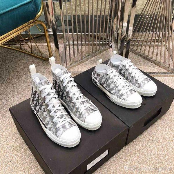 19FW B23 Oblique High Low Top Sneakers vintage platform Obliques Technical Leather Luxury Mens Shoes Womens Trainers Size 36-44