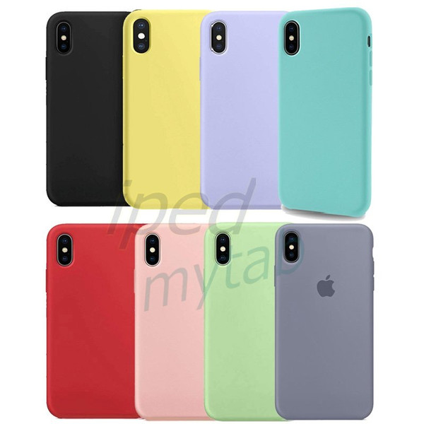 Soft liquid  ilicone rubber ca e for iphone gel rubber  hockproof cover microfiber lining for iphone x  max xr x 8 7 6  plu
