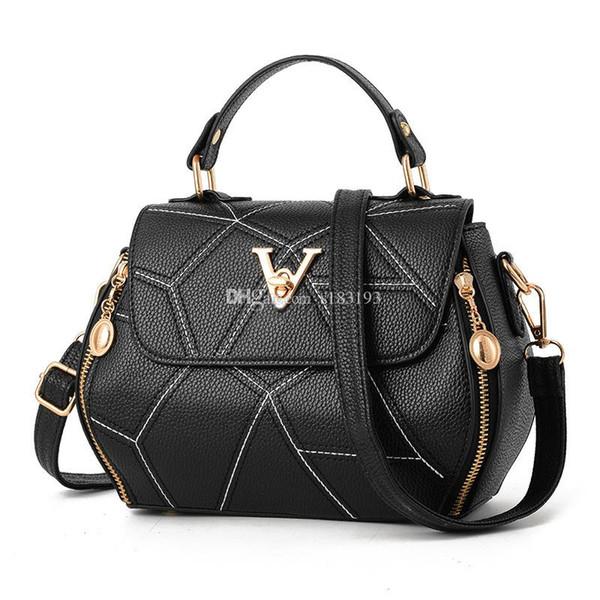 9 colors optional with letter v flap bag women's plaid chain bag ladies luxury handbag fashion designer purse shoulder messenger tote b (515454636) photo