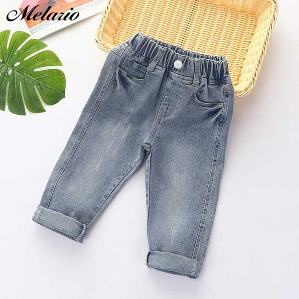 Melario Children Jeans Spring Autumn Kids Jeans for Girls Boys Casual Loose Children New Baby Long Pants