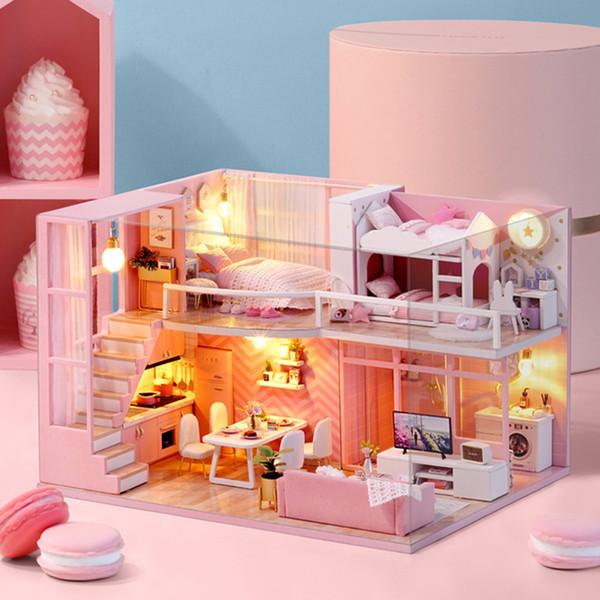 Sylvanian Families House Dollhouse DIY Dollhouse Miniature Toys for Children