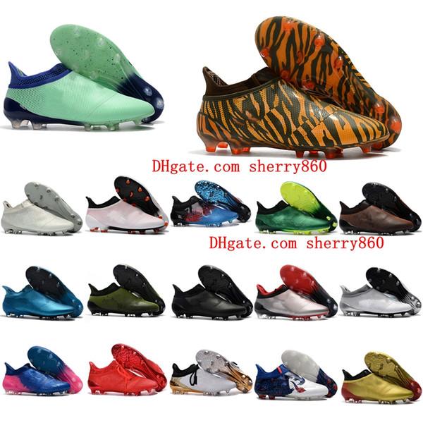 2018 мужские футбольные бутсы Ace 17 Purecontrol FG футбольная обувь X 17 Purechaos FG футбольные бутсы высокие лодыжки botas де футбол дешевые