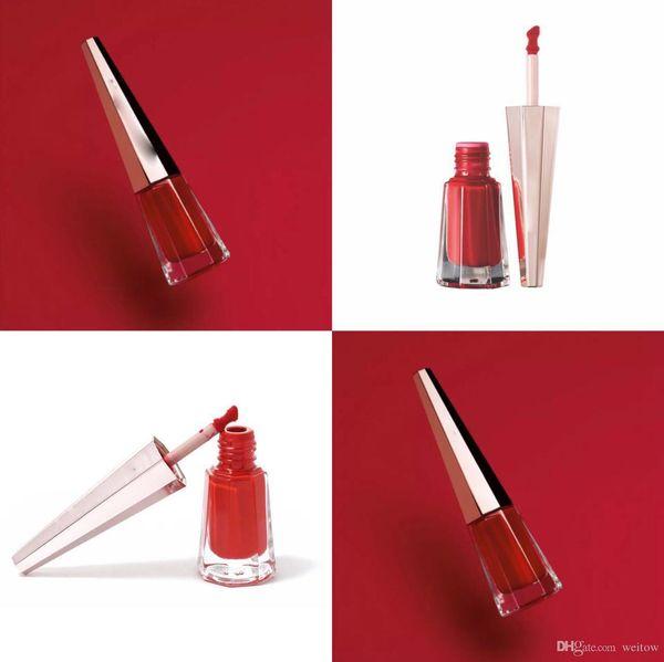 Oem 3 color matte lip glo lip blank logo conical liquid lip tick natural long la ting waterproof lipglo co metic