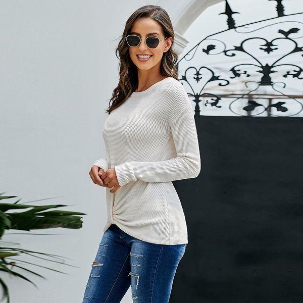 2019 Трикотажных Женщины о-образной вырез свитер Пуловеры весны осени Основных Женщины Свитера Пуловеры Slim Fit черные дешевый топ SY270070 фото