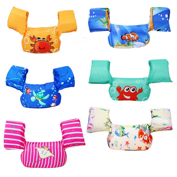 swim cartoon baby arm ring buoyancy vest garment of floating kids safety life vest children's swim life jackets puddle jumper