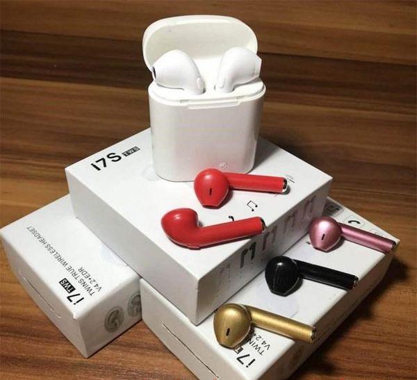 I7 i7s TWS Twins Mini Беспроводная Bluetooth 4.2 гарнитура Стерео Музыкальное зарядное устройст фото