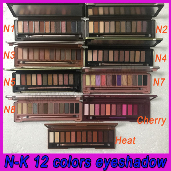 2018 nude makeup eye hadow n1n2n3n4n5n7n8 heat eye hadow cla ic eye hadow palette 12 color high quanlity hipping