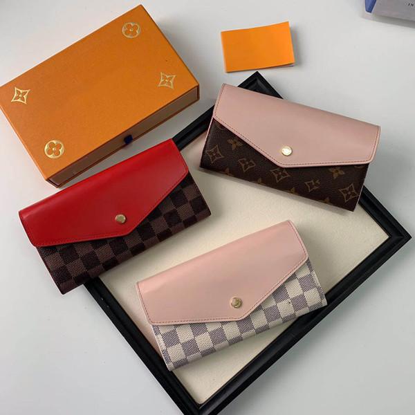 Роскошный кожаный многоцветный кошелек кошелек Date Code Designer Кошелек с коротким бум фото