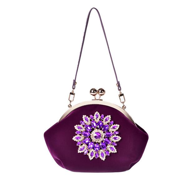 handbags women bags purses and handbags ladies wedding diamond evening shoulder hand bags (511454182) photo