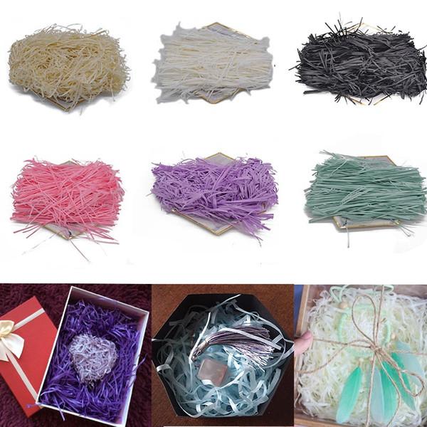 20g shredded crinkle paper paper confetti diy sec paille cadeaux boîte remplissage matériel de mariage de fête d'anniversaire décoration (485788610) photo