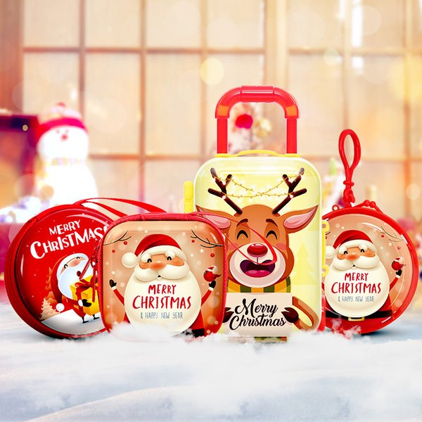 cartoon cute coin box bag merry christmas santa snowman elk kids girl candy coin money wallet purse earphone storage bag pouch (497351169) photo
