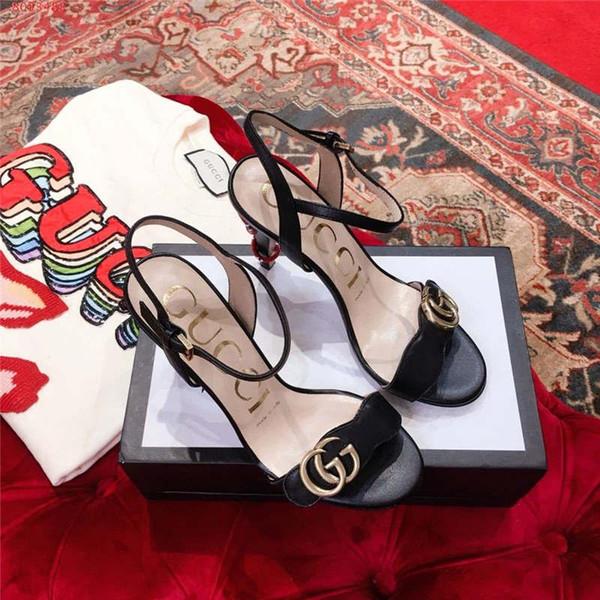 Новые женские босоножки весна-2019, женские туфли на каблуке металлической текстуры, уличный стиль, повседневная обувь и обувь в стиле платья