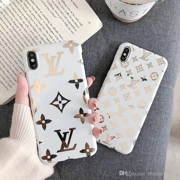 Golden letter for iphone x xr x  max mobile phone ca e brand de ign tpu for iphone 6 6plu  7 7plu  8 8plu  protective  oft cover