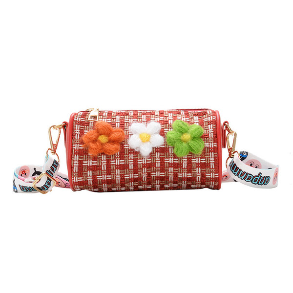 raged sheep 2020 new children's shoulder bag messenger fashion flower girl slung accessories mini cylinder handbag kids purse (547304442) photo