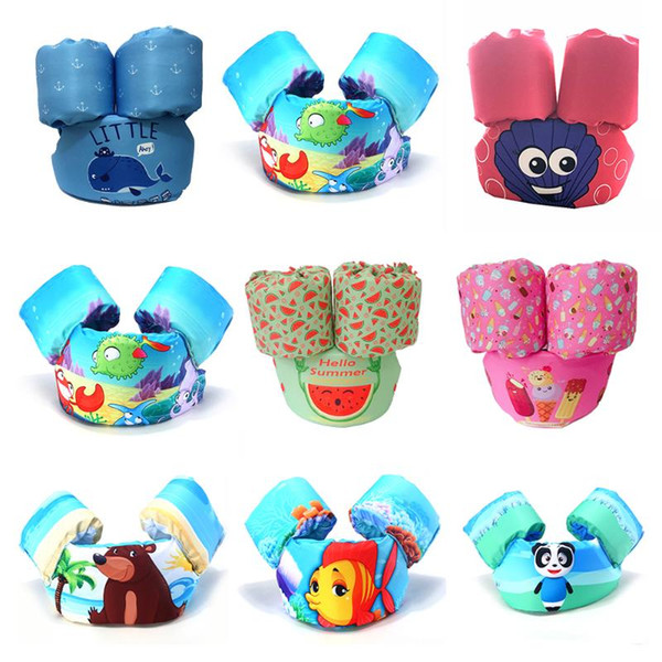 2-6 years old puddle jumper children arm ring baby life vest swim rings foam cartoon floating children's swim life jackets