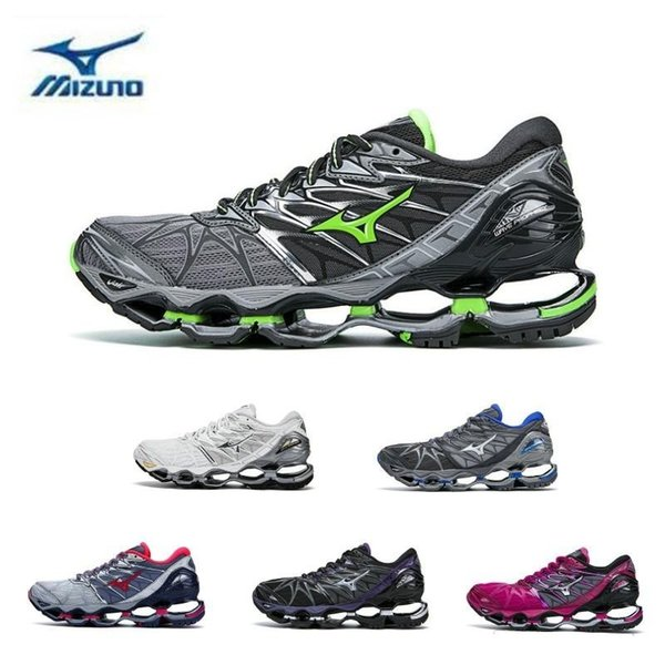 2019 New Authentic MIZUNO WAVE PROPHECY 7 Men Women Designer Sports Running Shoes Sneakers Mizunos 7s Casual Trainers Size 36-41 40-45