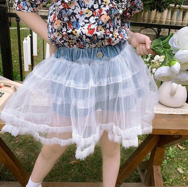 2020 new wholesale girls patchwork denim shorts summer fashion girls shorts 4-10 t F207