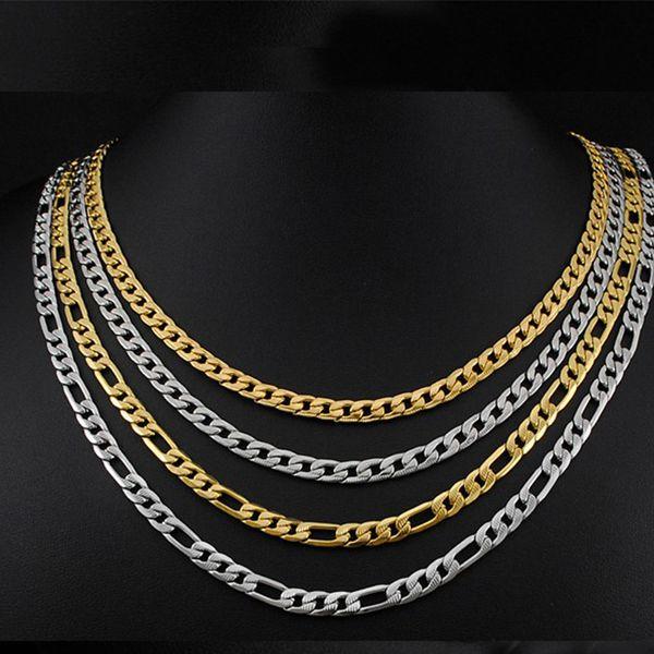 2020 оптовой Figaro нержавеющей сталь мужчина ожерелья персонализированного золотые цепи длинных мужских мужских chocker хип-хоп ювелирные изделия фото