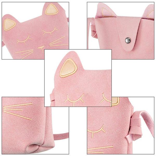 designer-little girls purses cute cat ears girl crossbody shoulder bag for kids, toddler, girls (502971733) photo