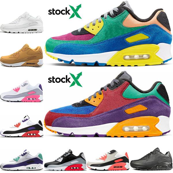 Nike air max 90 Мужские женские желтые кроссовки классические мужские кроссовки тройны фото