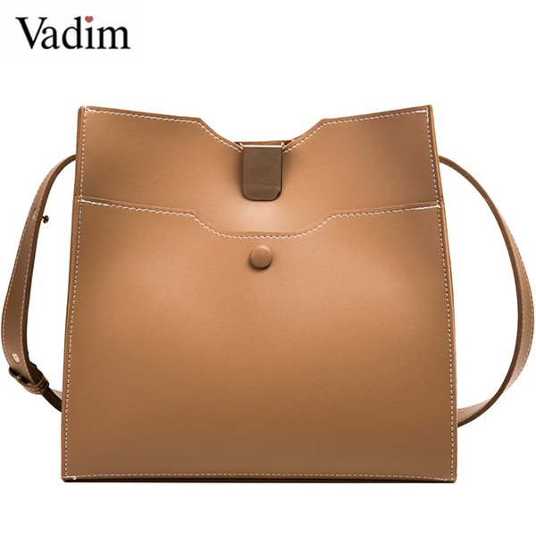 vadim large capacity composite bucket bag purse women shoulder messenger bags ladies crossbody bag handles bolsa feminina (499091698) photo