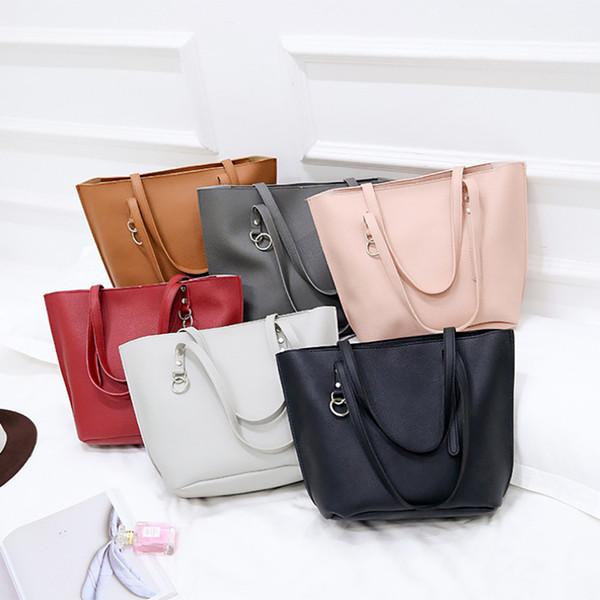 4pcs woman bag set 2019 new fashion female purse and handbag four-piece shoulder bag tote pu leather messenger purse (497233197) photo