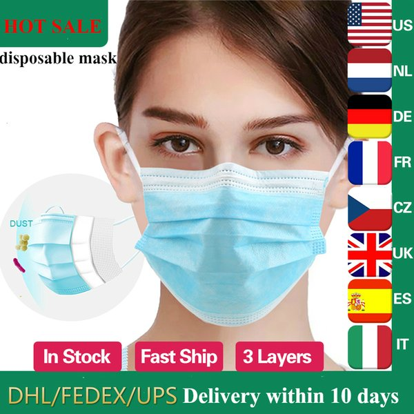 Wholesale face mask Anti-Dust Dustproof Disposable Earloop Face Mouth Masks Facial Protective Cover Masks reusable masque jetable фото