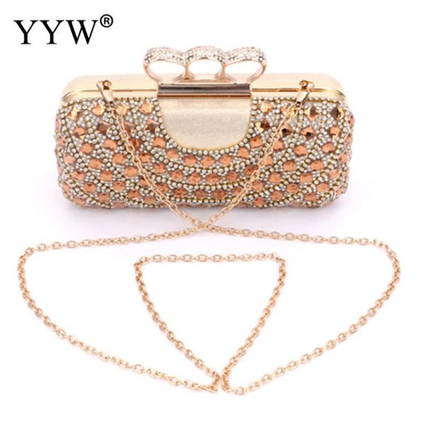 clutch evening bags crown rhinestones evening bags purse shoulder bag for wedding diamonds lady purse mini (543542525) photo
