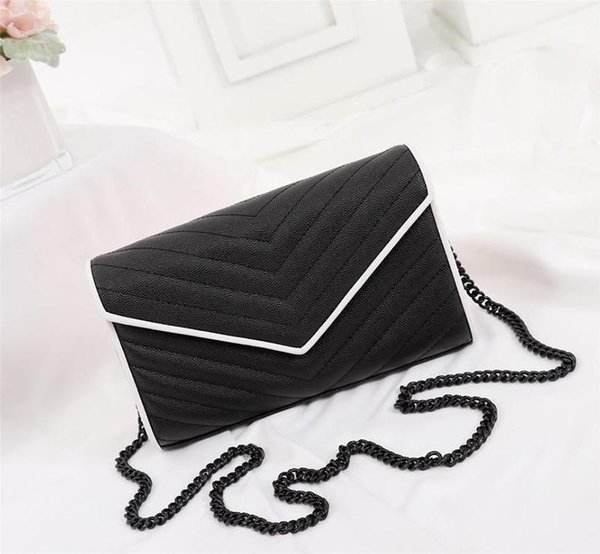 designer- luxury handbag purses genuine leather chain strap y purses women genuine leather designer purses bags (545036344) photo