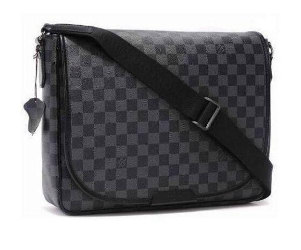 Louis Vuitton Brand Bags 2019 Men Shoulder Briefcase Pu Leather Handbag Business Men Laptop Bag Messenger Bag Big Size
