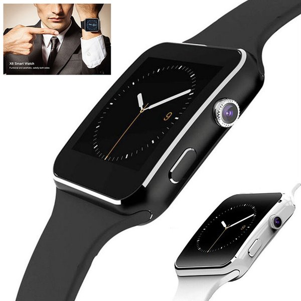 Smartwatch curved  creen x6  mart watch bracelet phone with  im tf card  lot with camera for  am ung android  martwatch